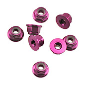 224222 ALUM NYLON NUT 4mm 8 PCS