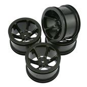 11274B Mini St 6-Spoke Wheel Set-Black
