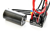 89340WP 1/8  100 A   BRUSHLESS  SPEED  CONTROLLER  &  2000 KV  MOTOR  SET