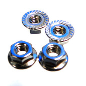 39005 NUT M3 WITH FLANGE