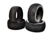 89154  L-Pattern Tire + Foam Insert (black) 2PCS