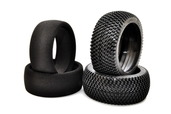 89154  L-Pattern Tire + Foam Insert (black) 2PCS