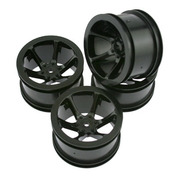 11274B Mini St 6-Spoke Wheel Set-Black