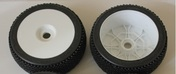 89156 L-Pattern Tire (Black Insert) Mounted Dish Wheel Set