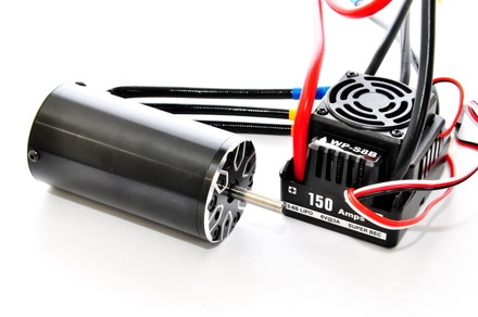 89420WP 1/8 150 A   BRUSHLESS  SPEED  CONTROLLER  &  2000 KV  MOTOR  SET picture