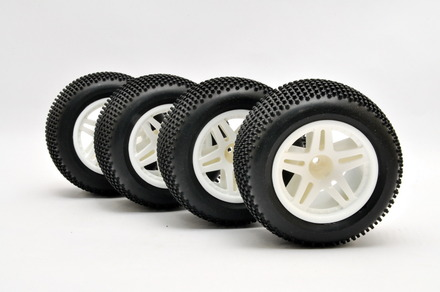 11105 TT TRUCK TIRES MOUNTED WHEEL, 4 PCS picture