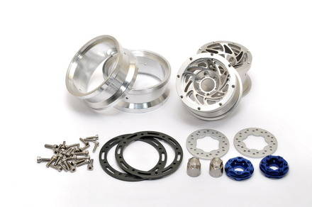 "230118S CNC Alu. 1.9""  beadlock ring Wheels Set (Silver) W/ Brake Disc  / Stainless Screws picture"