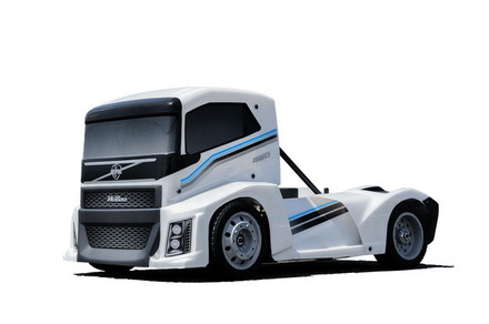 Hyper EPX 1/10 Semi Truck On-Road ARR-- Pearl White Paint body picture