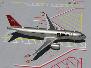 Northwest A320 picture