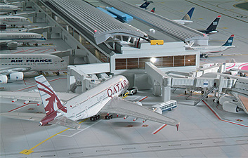 1:400 Scale Airport Terminal picture