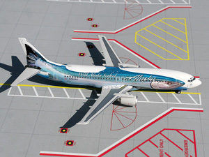 "Alaska ""Salmon Three Salmon"" B737-400 picture"