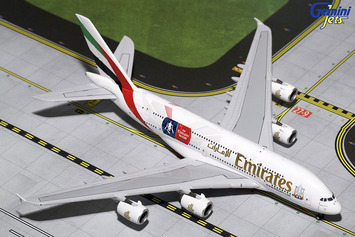 "GeminiJets 1:400 Emirates A380 ""Emirates FA Cup"" picture"
