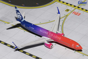 "GeminiJets 1:400 Alaska Airlines 737-900ER(S) ""More to Love"" picture"