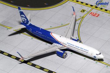 "GeminiJets 1:400 Alaska Airlines 737-900ER ""Honoring Those Who Serve"" picture"