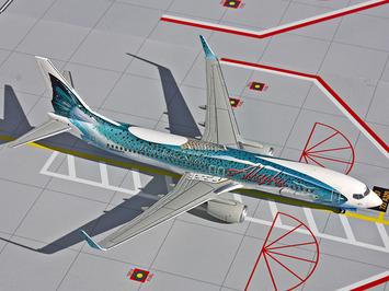 "Gemini200 Alaska Airlines 737-800 ""Salmon-Thirty-Salmon"" picture"
