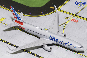 """GeminiJets 1:400 American Airlines 767-300ER """"oneworld"""" picture"""