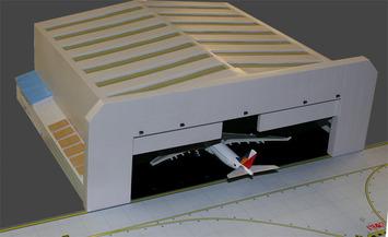 GeminiJets 1:400 Aircraft Hangar picture