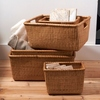Set of 5 Rattan Nested Baskets