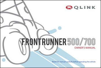 Owner's Manual - FrontRunner 500/700 picture