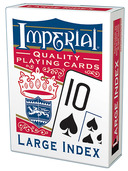 Imperial® Large Index Playing Cards  Red Deck