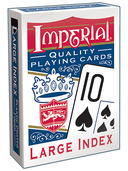 Imperial® Large Index Playing Cards  Blue Deck