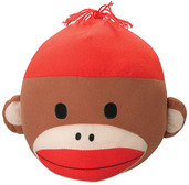Sock Monkey Plush Head