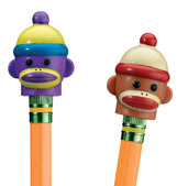 Sock Monkey Pencil Toppers