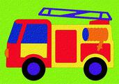 Lauri® Crepe Rubber Puzzle Fire Truck