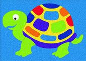Lauri® Crepe Rubber Puzzle Turtle