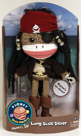 Planet Sock Monkey® Long Sock Silver® picture
