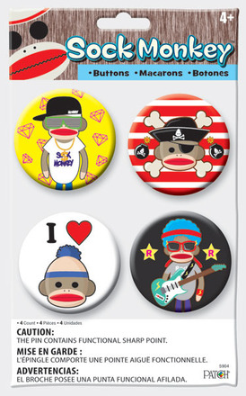 Sock Monkey Buttons picture