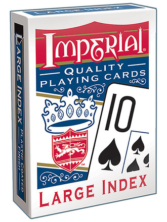 Imperial® Large Index Playing Cards  Blue Deck picture