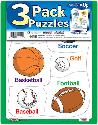 3 Pack Puzzles Set 4 picture