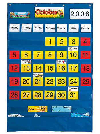 Calendar Pocket Chart (English/Spanish) picture