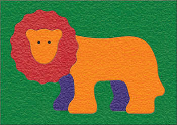 Lauri® Crepe Rubber Puzzle Lion picture