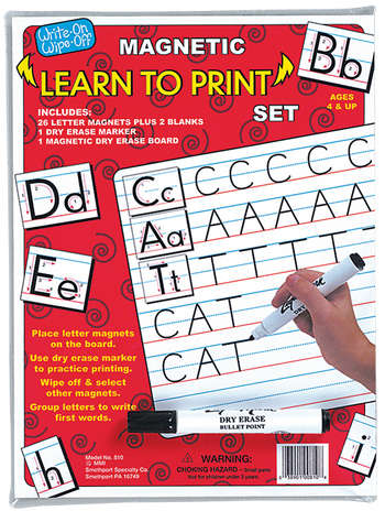 Magnetic Dry Erase Learn to Print Set picture