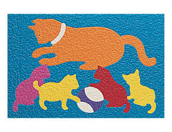 Lauri&reg; Crepe Rubber Puzzle Cat & Kittens picture