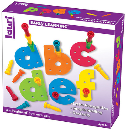 Tall-Stacker™ Pegs a to z Pegboard™ Set Lowercase picture