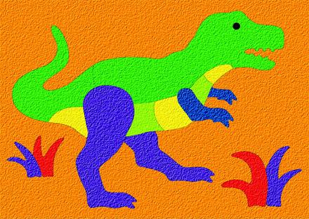 Lauri® Crepe Rubber Puzzle Tyrannosaurus picture