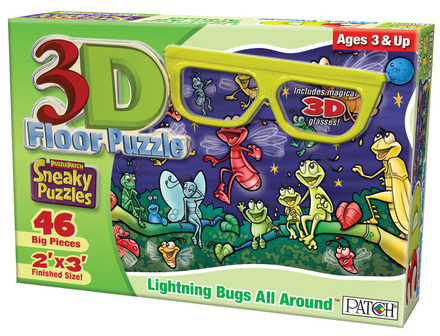 3D Sneaky Puzzles® Lightning Bugs All Around™