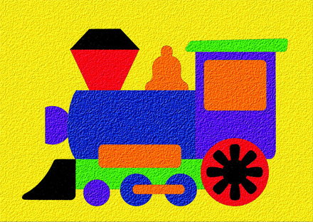 Lauri® Crepe Rubber Puzzle Choo Choo picture