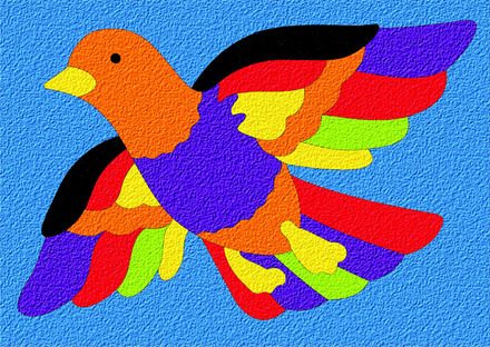 Lauri® Crepe Rubber Puzzle Bird picture