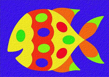 Lauri® Crepe Rubber Puzzle Fish picture