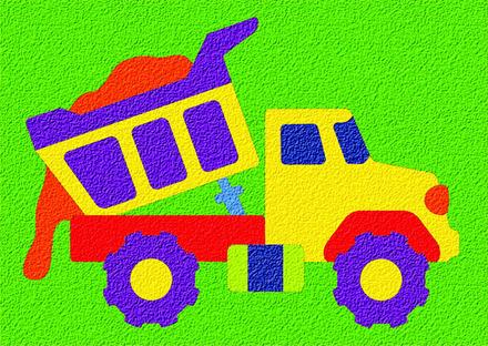 Lauri® Crepe Rubber Puzzle Dump Truck picture