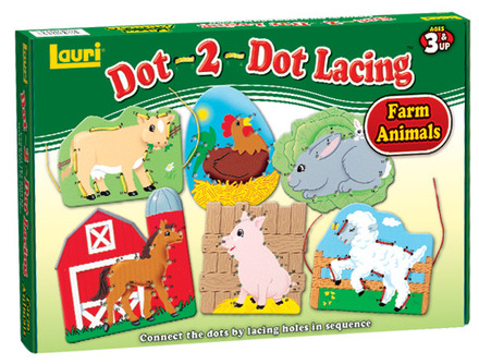 Dot-2-Dot Lacing™ Farm Animals picture