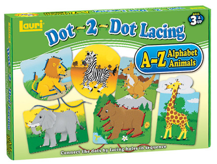 Dot-2-Dot Lacing™ Alphabet Animals picture