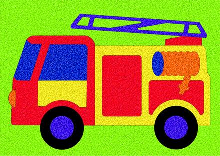 Lauri® Crepe Rubber Puzzle Fire Truck picture