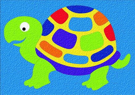 Lauri® Crepe Rubber Puzzle Turtle picture