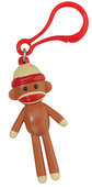 Sock Monkey Backpack Clip