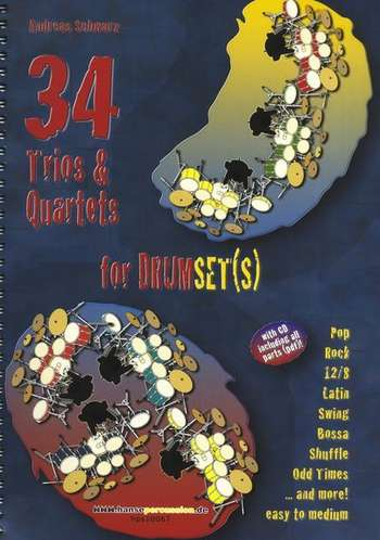 34 Trios and Quartets for Drumset picture